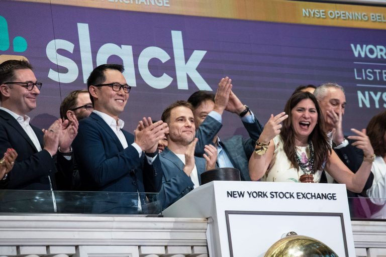 Slack shares jump following report of possible Salesforce acquisition