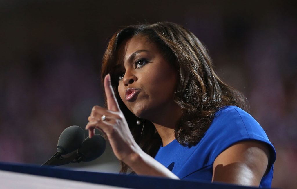 Michelle Obama calls on Facebook, other platforms to ban Trump forever