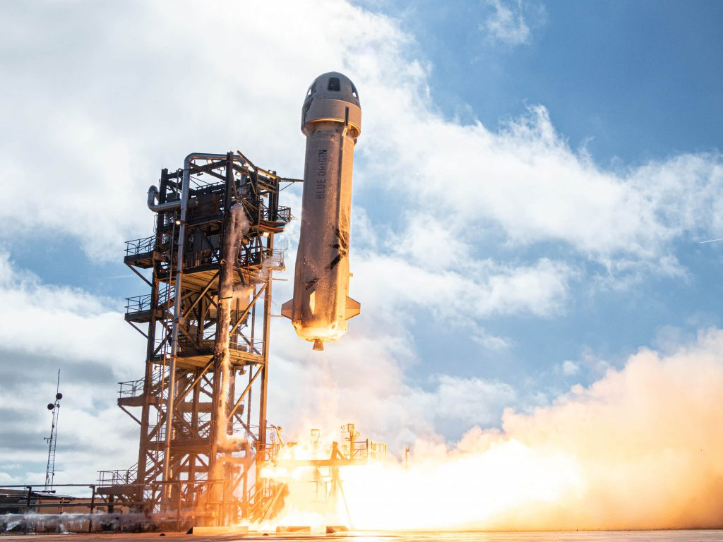 Jeff Bezos' Blue Origin aims to fly people on New Shepard by April