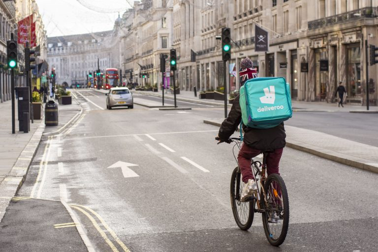 Deliveroo shares push higher as retail investors start trading