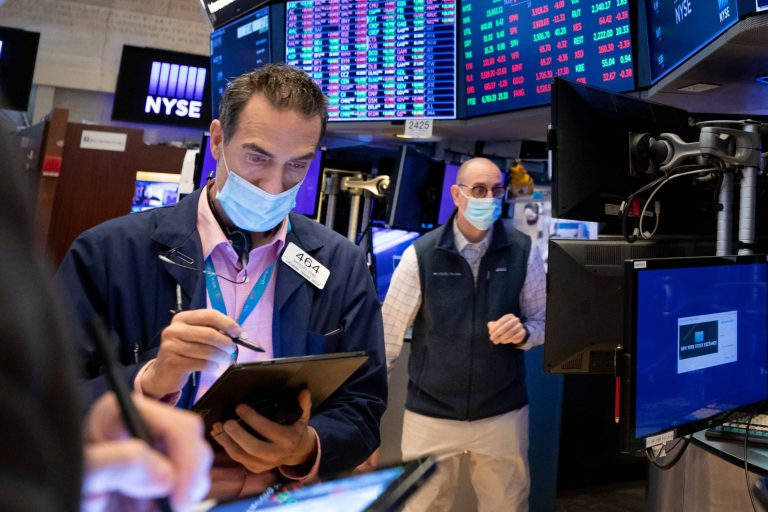 Stock futures inch higher after major averages close lower, S&P 500 retreats from record