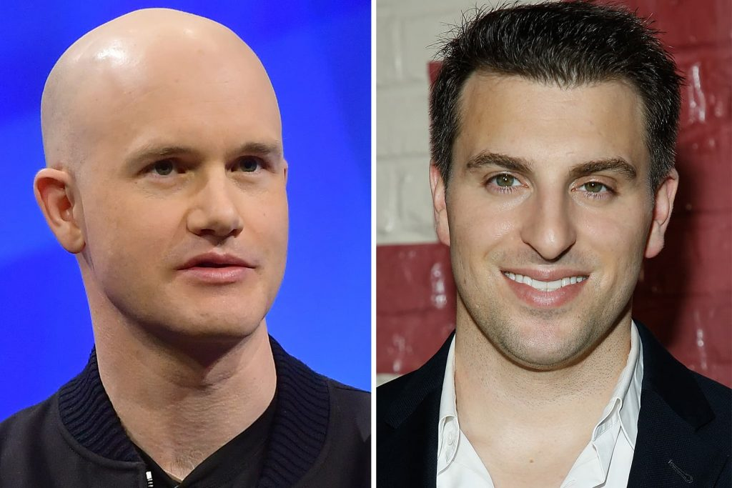 Airbnb CEO Brian Chesky 'really proud' of Coinbase CEO Brian Armstrong